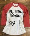 Mi Pequeña Camisa Camisa Del Estilo Del Béisbol del Embarazo de San Valentín San Valentín. Camisa Panza de San Valentín. Camisa de maternidad de San Valentín