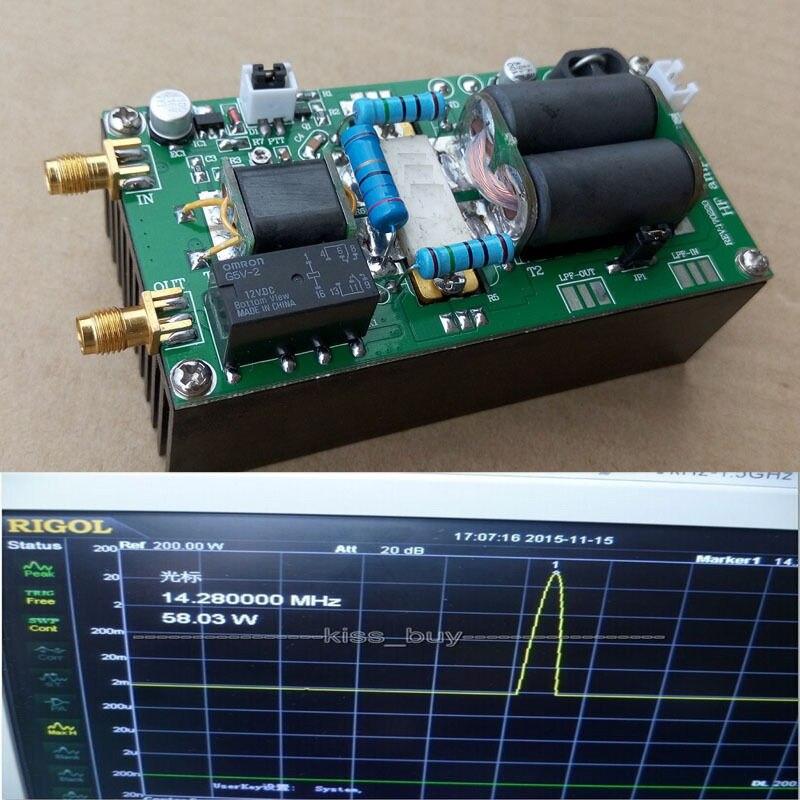 2018 DIY наборы MRF9120 100 Вт SSB линейный ВЧ усилитель мощности для YAESU FT-817 KX3 CW FM