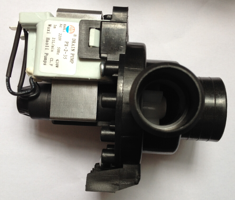 220V 30W Washing machine parts 2 pins drain pump motor PX-2-35 21L/min XQG50-146/156/166/356/456 1091 janome px 21