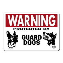 ZJY Vintage Home Decor Warning Guard Dogs Metal Tin Signs Tavern Shabby Chic  Shop Retro Art Poster Plaque