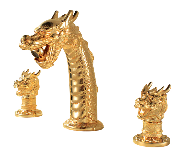 Free shipping gold clour 3 pieces widespread bathroom dragon Lavatory sink  Faucet Mixer tap ChinaPopular Bathroom Sink Faucet 3 Pieces Buy Cheap Bathroom Sink  . 3 Piece Bathroom Sink Faucet. Home Design Ideas