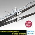 """Limpiaparabrisas para Skoda Superb Saloon Estate (a partir de 2009) 24 """"+ 18"""" ajuste pulsador wiper armas solamente HY-011"""
