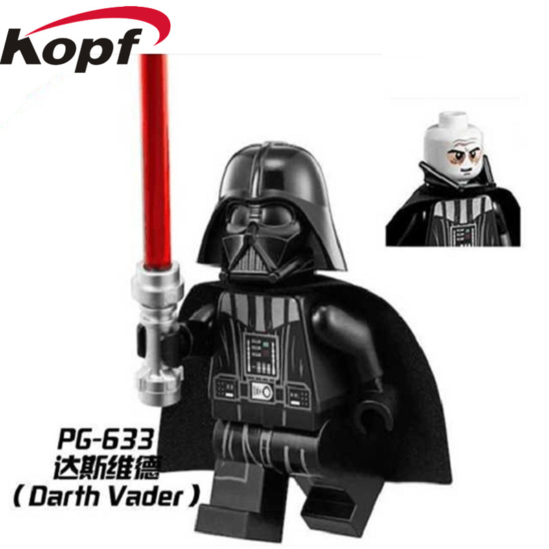 20Pcs PG633 Super Heroes Star Wars Darth Vader Luke Skywalker Han Solo Bricks Collection  Building Blocks Children Gift Toys relax mode пижама с шортами relax mode 13116 pembe розовый