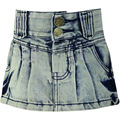 Girls Sheath Denim Skirts 3-6Y Children's washed Embroidery Letter Pattern buttons Zipper Kids Slim Mini slinky skirt B77