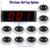 Restaurante sem fio Pager Sistema de Comunicação de Voz de Transmissão Receptor Anfitrião + 10 pcs Chamar Botão do Transmissor Chamada Pager 433 MHz F3274B