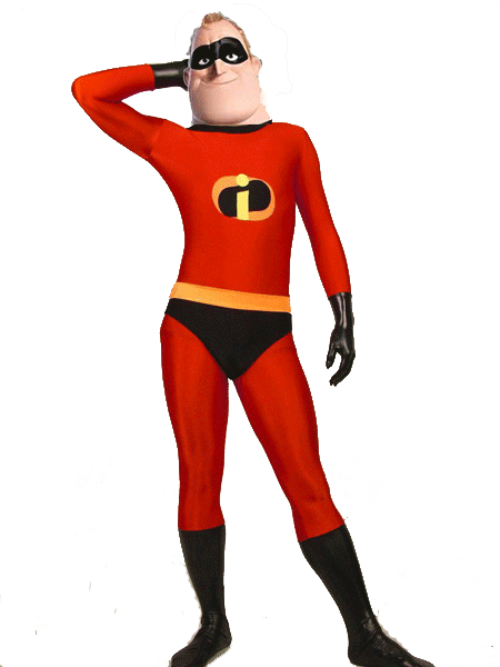 Mr Incredible The Incredibles Superhero Costume Spandex Zentai Cosplay Costume Hot Sale Free Shipping