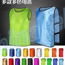 5f6b3d28fd66 10pcs adult chlid long run soccer basketball group against scrimmage vest  combat training vest tank top
