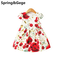Girls Dress Summer Kids Clothes Girls Party Dress Flower Print Children Clothing Toddler Girl Princess Dresses Wedding Birthday