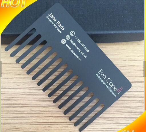 100pcslotcomb shape special black metal business cards in 100pcslotcomb shape special black metal business cards colourmoves