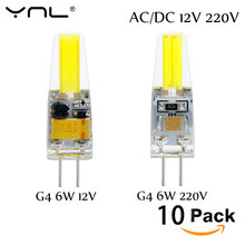 10pcs G4 LED Lamp AC DC 12V 220V Mini Lampada LED Bulb G4 1505 COB Chip Light 360 Beam Angle Lights Replace 30W Halogen