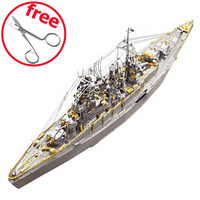 Piececool Assembled 3D Metal Puzzle Toy Emulation Nagato Class Battleship 3D Puzzles DIY Toys For Children Adults