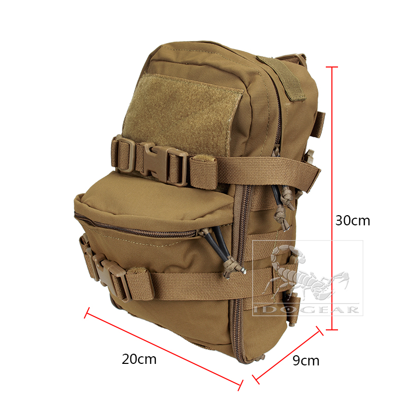 sale retailer 64e20 351cb TMC Mini Hydration Bag Carrier Molle Zaino Paintball Airsoft Combat Gear  Multicam Coyote Brown # 108617