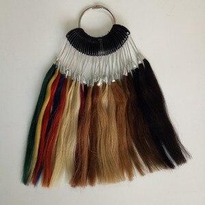 Новое цветное кольцо из человеческих волос для цветовых ссылок с 35 цветами в наборе