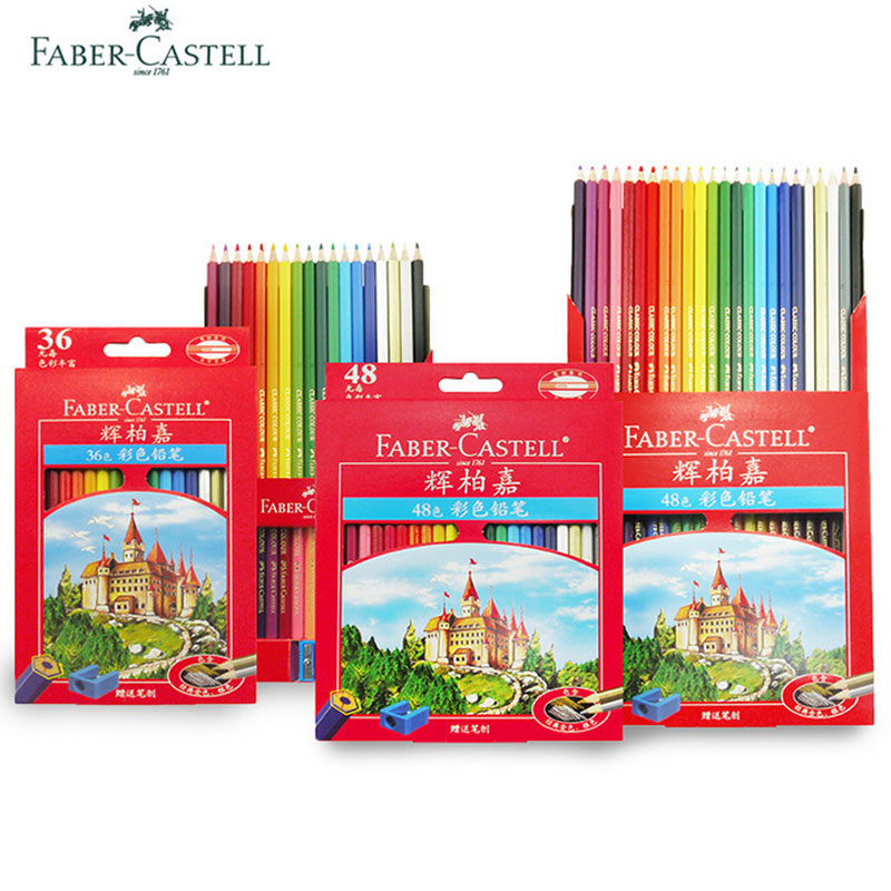 Faber Castell Colored Lapis De Cor Professionals Artist Painting Oil Color Pencil Set For Drawing Sketch Gift Supplies