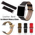 1:1 For Apple Watch Premium Classic Genuine Leather Soft Strap Original Pin Buckle Watchband With Adapter Connector