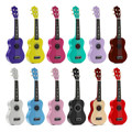 Colorful 21 polegada acústico soprano 4 cordas mini basswood ukulele instrumento musical toy aprendizagem educacional música toys for kids
