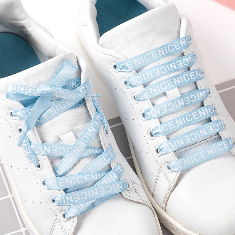 1 Pair Letter Printed ShoeLace Satin Silk Ribbon Shoelaces White Casual Shoes Lace Canvas Shoes Lace Sneakers Shoelaces 1 Pair Letter Printed ShoeLace Satin Silk Ribbon Shoelaces White Casual Shoes Lace Canvas Shoes Lace Sneakers Shoelaces