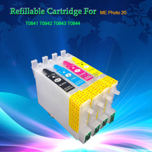INK WAY T0761-T0764 Refillable ink cartridge for Stylus C58/CX2800/Me200/Me2 with ARC,1 Set, 4 PCS,FREE SHIPPING(China)
