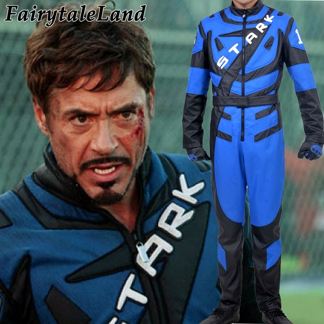 iron man cosplay costume superhero costume tony stark iron man racing suit cosplay halloween costumes leather