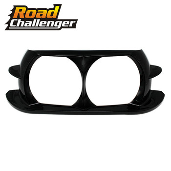 For Harley Touring Road Glide Customs 2015 2016 2017 2018 Black Motorcycle Dual Headlight ABS Fairing Trim Bezel Scowl Cover