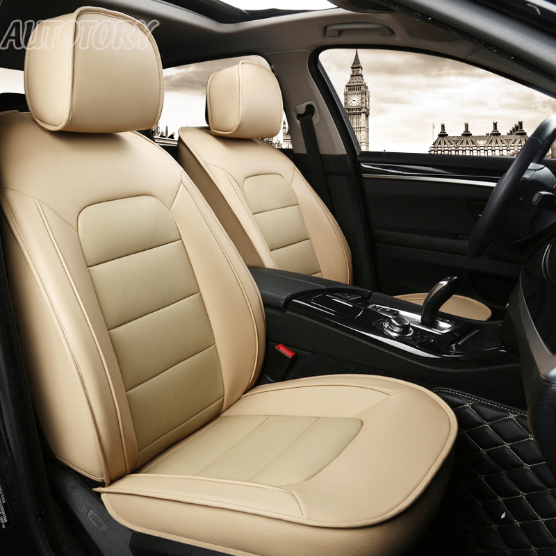 Autotory Genuine Leather Cover Seat for Hyundai Coupe 2004-2012 Car Seat Cover Set Cowhide Seats Cushion Supports Accessories
