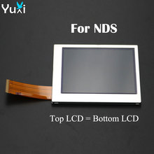 YuXi Top Bottom / Upper Lower LCD Screen Display for Nintendo DS For NDS Game Console LCD Screens