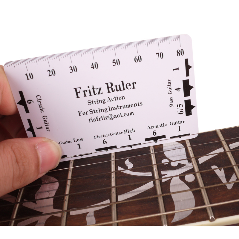 1 pcs guitar bass string action ruler fritz plastic string pitch height ruler luthier tool in. Black Bedroom Furniture Sets. Home Design Ideas