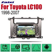 ZaiXi Android 2 Din Auto Radio DVD For Toyota Land Cruiser 100 1998~2007 Car Multimedia Player GPS Navigation System Radio liislee for toyota caldina t240 2002 2007 radio cd dvd player