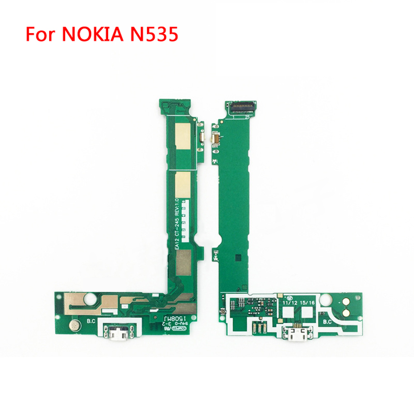 For Nokia Lumia 535 Micro USB Charging Block Power Button Flex Cable