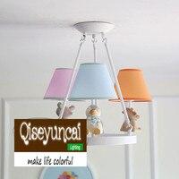 Qiseyuncai American small fresh simple children half hanging chandelier children's room boy girl bedroom lighting free shipping