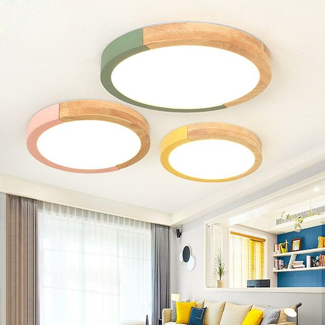 Luces de techo LED de diseño para sala de estar lámparas de techo modernas de forma redonda accesorios de iluminación para el hogar lámparas de habitación blancas negras