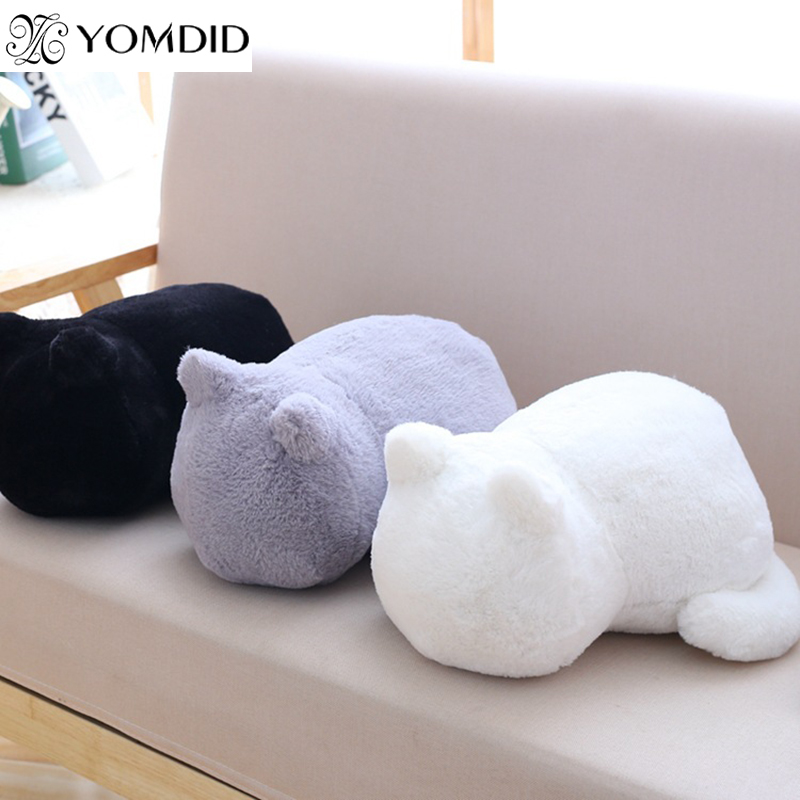 Stayreal Ashin Cat Plush Cushions Pillow Back Shadow Solid Color Comfortable Cushion Cat Shape Filled Animal Cushion Pillow Toys