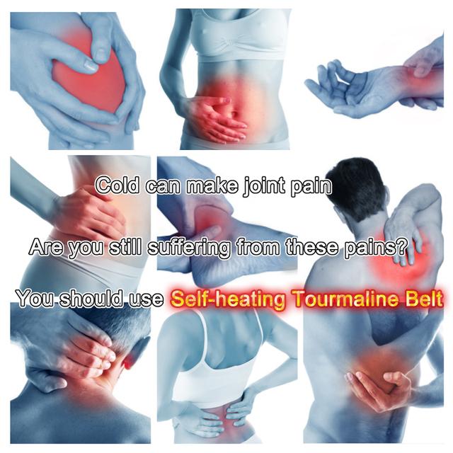 KLASVSA Magnetic Tourmaline Belt Back Neck Lumbar Shoulder Self-heating Therapy Posture Correcter Brace Health Care Pain Relief
