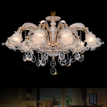 Gold Crystal Chandelier Lighting LED Crystal Chandeliers Italian Modern Chandeliers Living Room Hanging Lamp LED Lights Kitchen