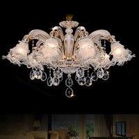 Gold Crystal Chandelier Lighting LED Crystal Chandeliers Italian Modern Chandeliers Living Room Hanging Lamp LED Lights Kitchen