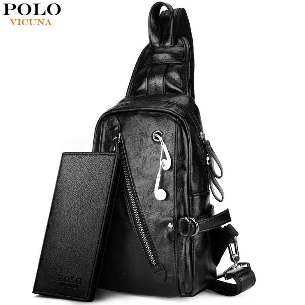 b8949e5ce63f Викуньи поло модные черные PU кожаная сумка на ремне для мужчин твердые  лоскутное Досуг сумка сумки