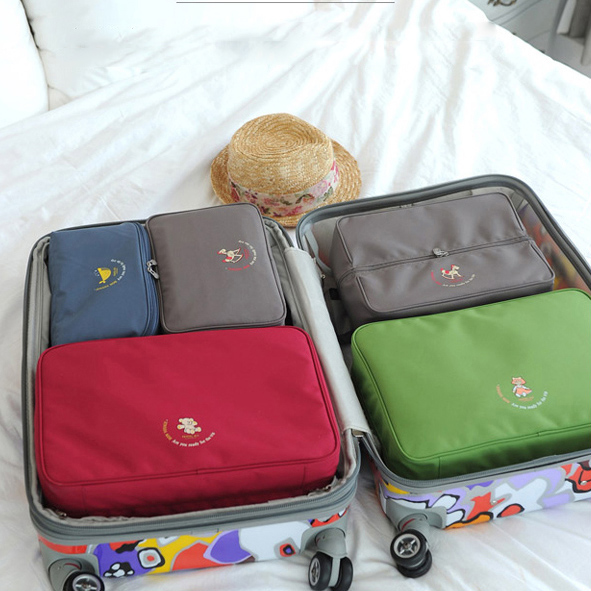 ФОТО 5PCS/set Travel Bag Square Mutifuction Finisher Holder Packaging Oganizer Accessories Supplies Gear Stuff Product