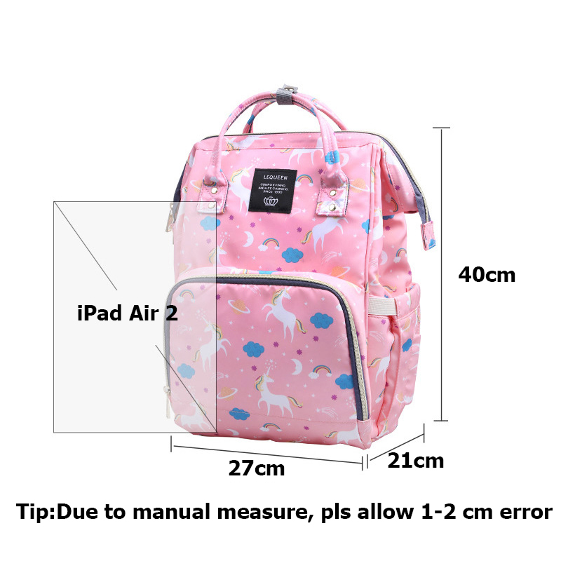 Mummy Maternity Baby Diaper Bag Mom Large Capacity Nappy Bags Unicorn Travel Baby Care Multifunction Nursing Backpack BB6039