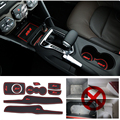 Car Sticker Cover Accessories Styling 8pcs/set For Ford Fiesta 2009 2010 2011 2012 2013 2014 Gate Slot Mat Rubeer Mat Pad