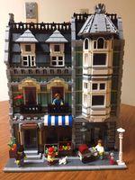 Lepin 15008 2462Pcs City Street Green Grocer Model Building Kits Blocks Bricks Compatible Educational Toys