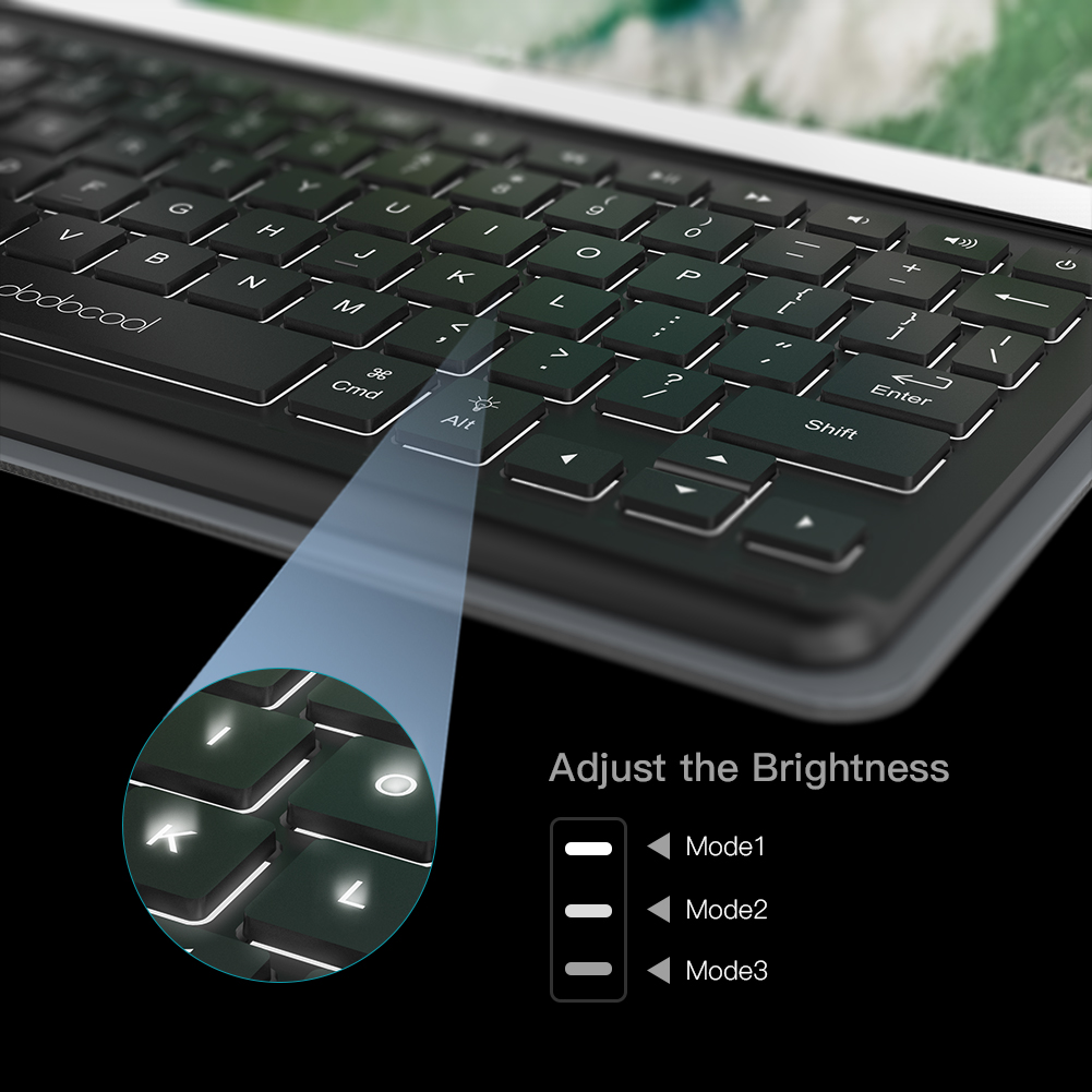 dodocool Mini Smart Keyboard for iPad Pro 10.5 inch Keyboard with Smart Connector Slim Shell Protective Cover Folio Case Stand 4