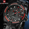 NAVIFORCE top brand men's quartz-watch stainless steel casual military watch clock male mens watches relogio masculino esportivo