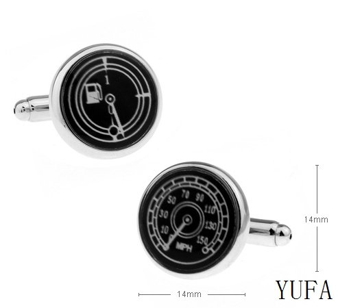 Factory direct round car oil table acceleration Cufflinks wholesale and retail Free shipping