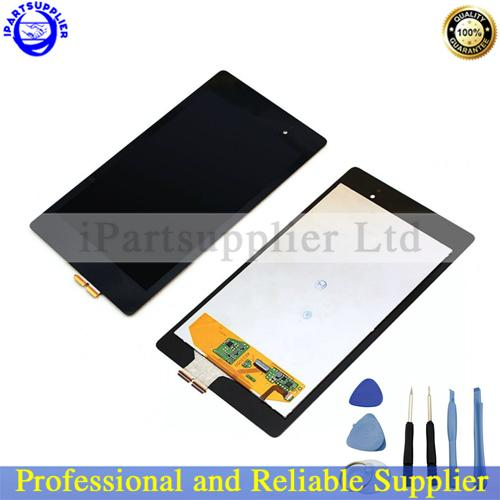 New black For ASUS Google Nexus 7 2nd Gen 2013 LCD Display with Touch Screen Digitizer Assembly +tools, Free shipping