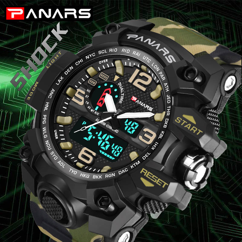 2017 New Brand Watch Men Military Sports Watches Fashion Silicone Waterproof LED Digital Watch For Men Clock digital-watch