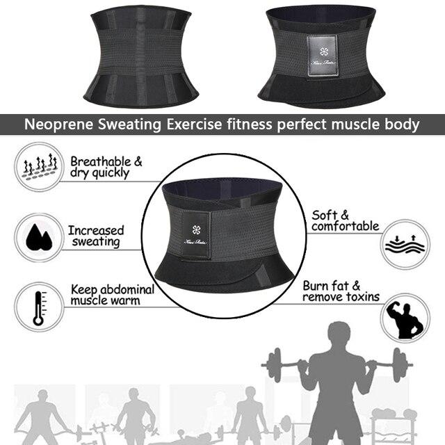 Miss Moly Sweat Waist Trainer Body Shape Shaper Xtreme Power Modeling Belt Faja Girdle Tummy Slimming Fitness Corset Shapewear 4