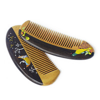 1PC Multi style Small full tooth Massage Wooden Comb Ebony Spelled Boxwood Comb G0416