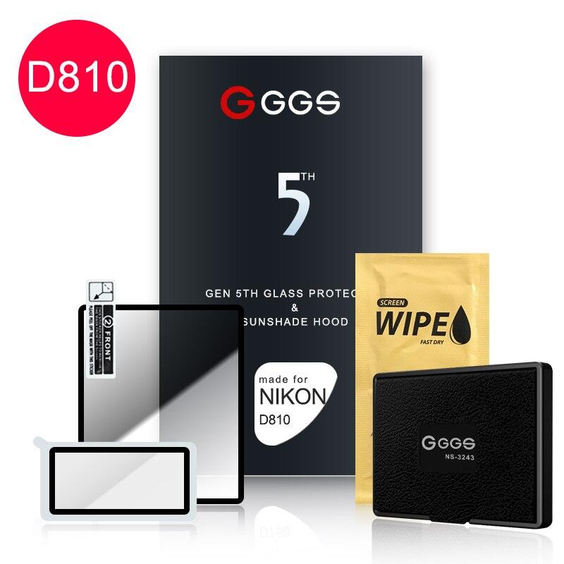 Quinta Geração para NIKON D810 LARMOR GGS tela da câmera tela de proteção filme de Metal quadro embutido vidro óptico