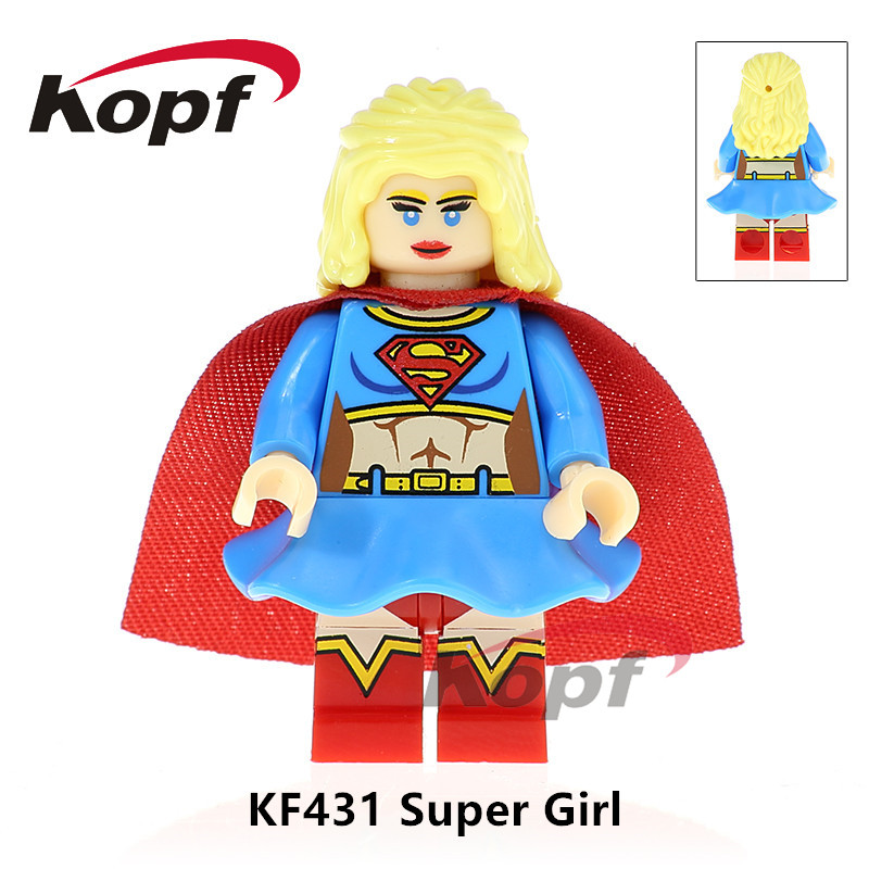 Single Sale Super Heroes Supergirl Trickster MK1 Iron man Wonder Woman Dolls Building Blocks Education Toys Children Gift KF431 single sale building blocks super heroes bob ross american painter the joy of painting bricks education toys children gift kf982