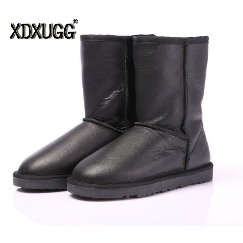 100% Australia sheep fur snow boots/female calf high winter warm classic boots,Waterproof fabric Large size/free shipping guerlain 3 5g